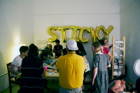 Sticker Parties and Mint Iced Tea at PIO Centre forDrawing